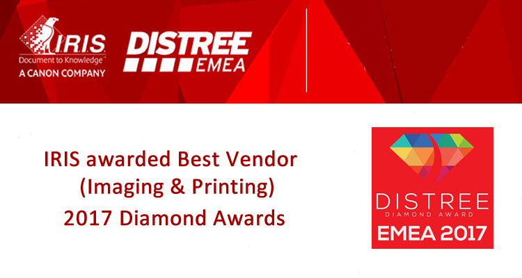 IRIS Awarded Best Vendor DISTREE EMEA