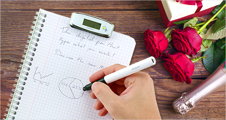 irisnotes digital pen digitize handwriting valentines day